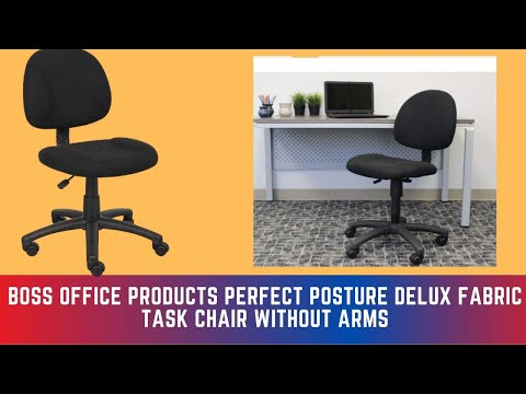 Boss Office Products Perfect Posture Delux Fabric Task Chair without Arms