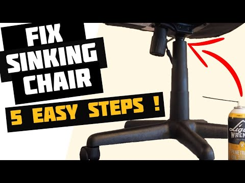 How to fix office chair from sinking | Sinking Chair Fix | How to Replace Office Chair Gas Cylinder