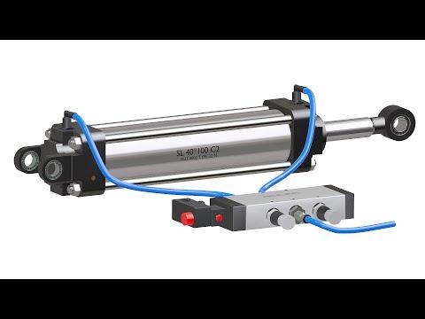 Pneumatic Cylinder Working explained (Animation)