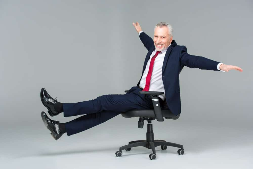 businessman in an office chair
