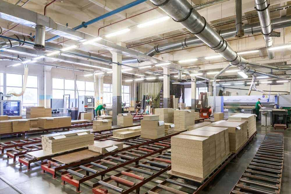 Furniture factory production line