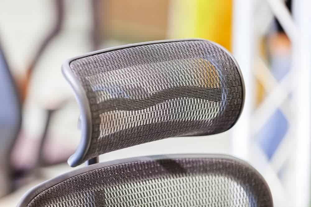 Headrest on an office chair