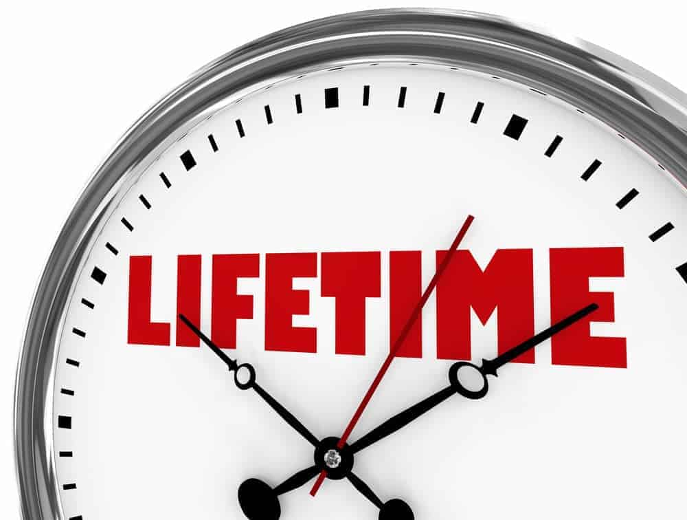Lifetime entire run long term clock time