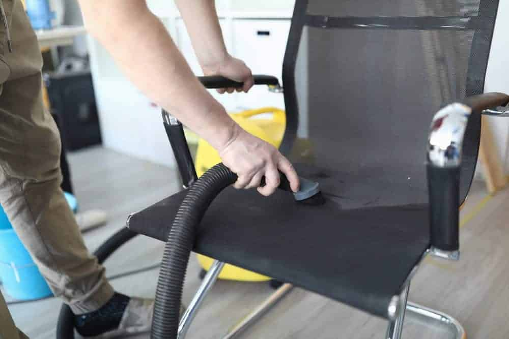 Man Remove Office Chair Odor