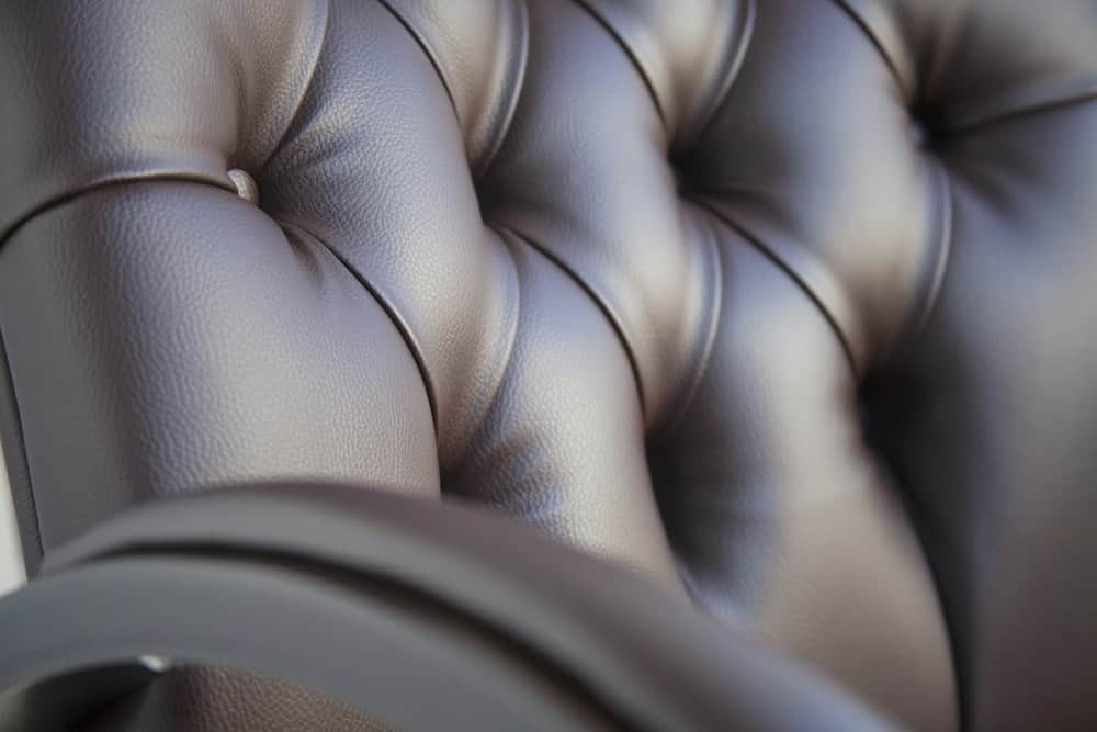 brown leather office chair to clean