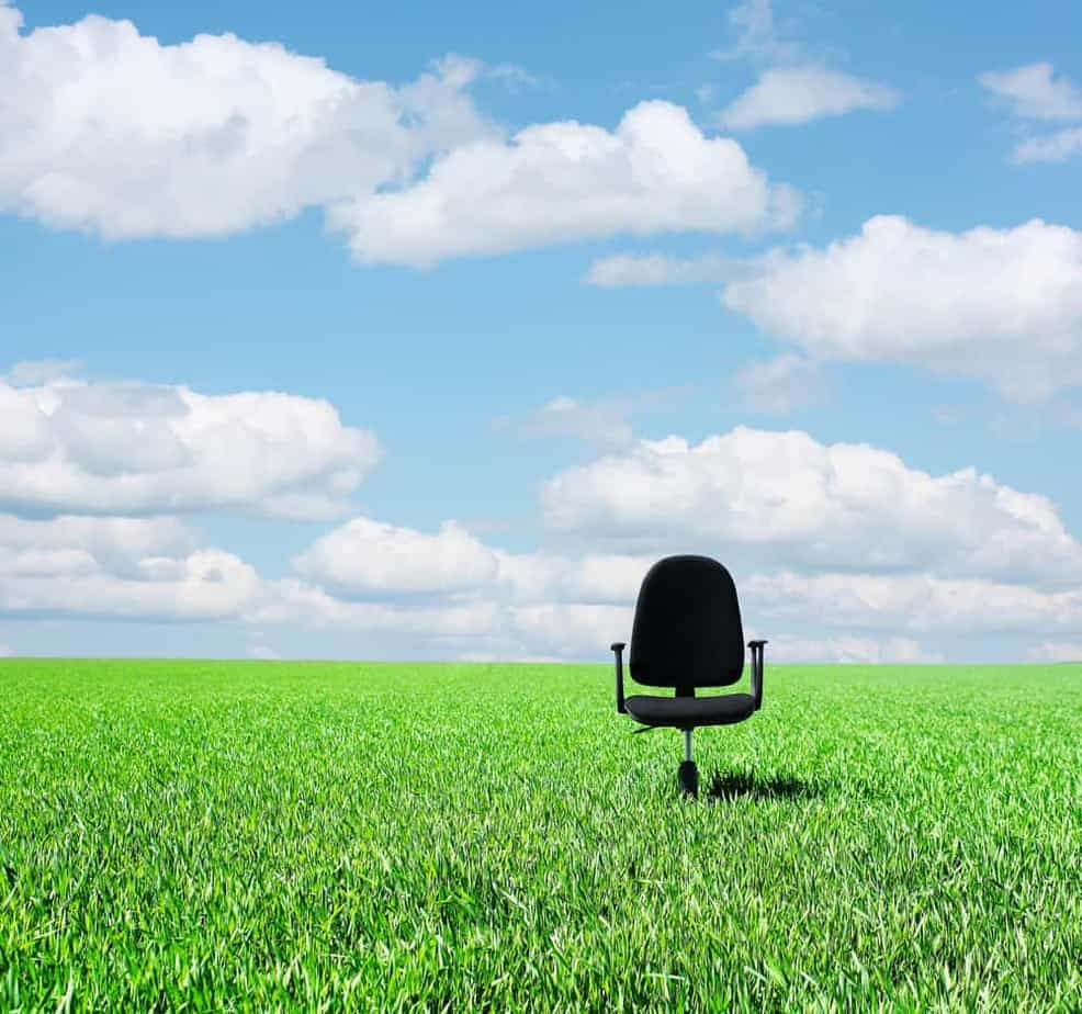 office chair in the sunlight