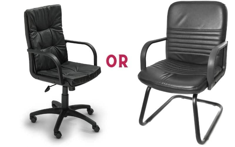 Chair with or without wheels