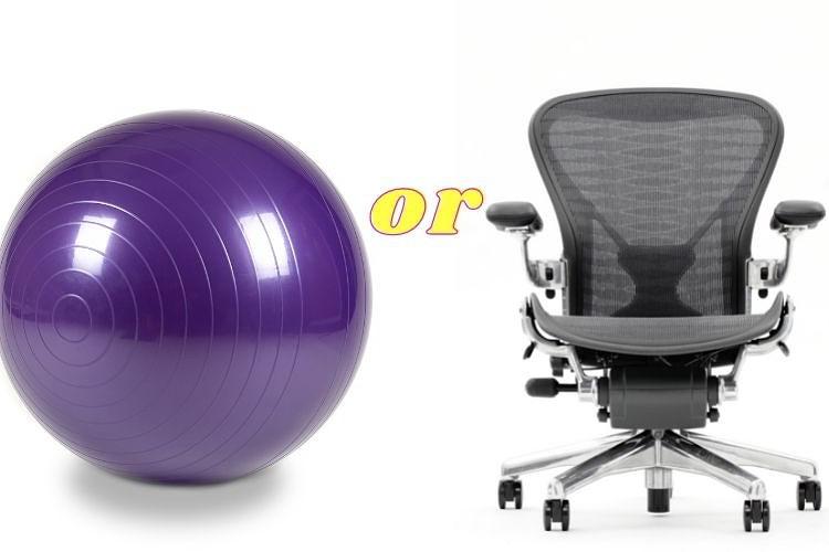 Chair vs exercise ball