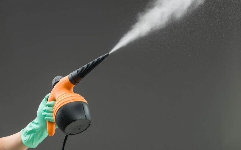 Steam Cleaning used for office chair