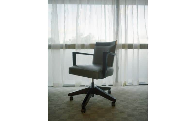 Office chair with curtain