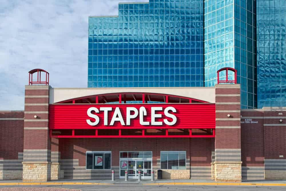 Staples is the go-to store for office-related products